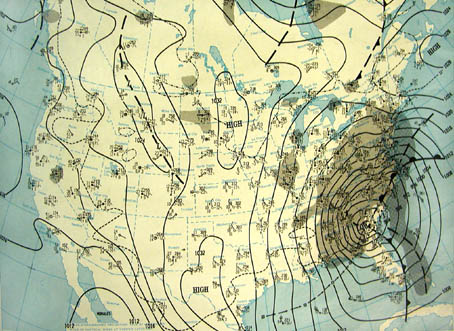 NOAA surface map of Blizzard of '93