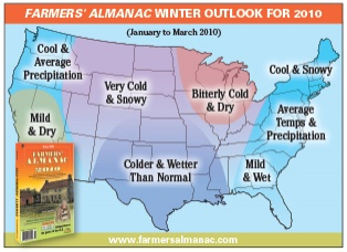 Winter 2010 Forecast from the Farmer's Alamanc