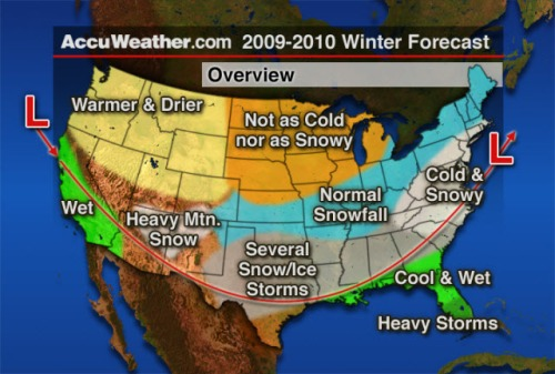 AccuWeather winter 2009-2010 forecast