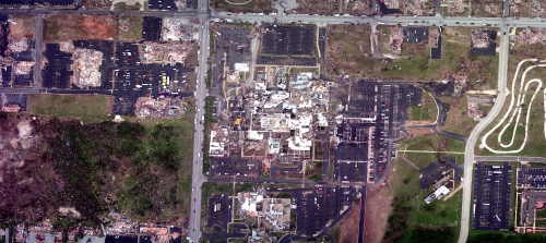 NOAA aerial image of Joplin, Missouri, after the May 22 tornado