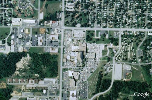 Google Aerial image of Joplin, Missouri, before tornado