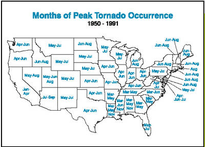 tornado frequency by state
