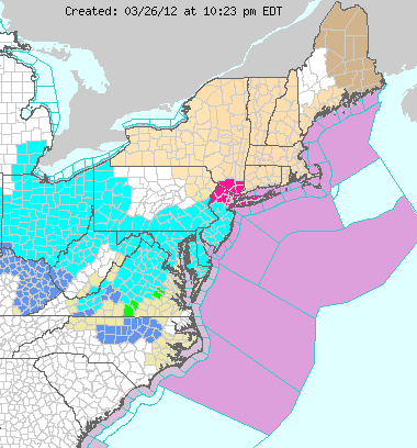 NWS Watchings and Warnings